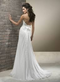 Wedding Dresses With Open Back And Bow