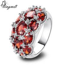 Buy garnet ring silver and get free shipping on AliExpress.com