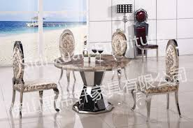 luxury european style metal round dining table white furniture marble dining table round dining table whole