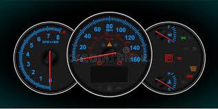 rpm gauge vector. download speedometer and rpm gauge cluster stock vector - image: 12736670 rpm
