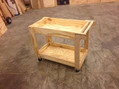 Quickie Shop Cart - made from a sheet of plywood, a dowel, casters and