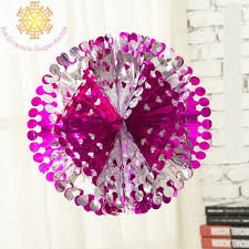 Paper Flower Balls To Hang From Ceiling Hanging Honeycomb Lanterns Wedding Christmas Decoration