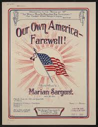Our own America, farewell! | Library of Congress