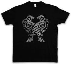 хугин и мунин Iv футболка Valhalla скандинавской викинги Odhin одина тор ворон рэйвенс
