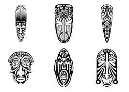 6 Masques Africains Simples Afrique Coloriages Difficiles Pour