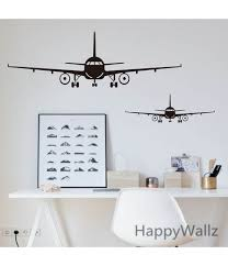 3d airplane wall stickers muraux wall decor airplane wall art decal decoration vinyl stickers removable airplane wallpaper color  on color planes wall art with 3d airplane wall stickers muraux wall decor airplane wall art decal