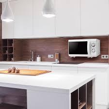microwave oven wall shelf