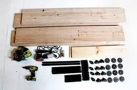 homemade modern diy ep3 wood and iron table supplies