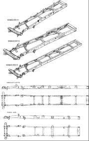 Рама и седельно сцепное устройство камаз Автомобили КАМАЗ различных моделей и комплектаций имеют рамы различающиеся длинной в зависимости от базы количеством и конструкцией поперечин