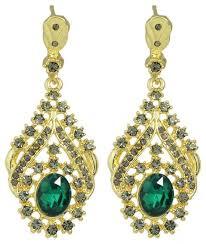rhinestone crystal chandelier water drop bridal earrings for women gold