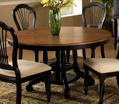 ... 10 Home Decor Extendable Likable Hillsdale Wilshire Round Oval Dining  Table Rubbed Black Expandable To Extension With Pedestal Seats ...