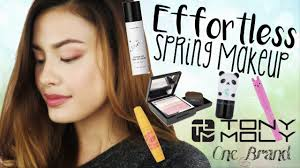 effortless spring makeup tony moly one brand korean makeup tutorial you
