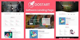 Dostart Startup Landing Page By Validthemes Themeforest