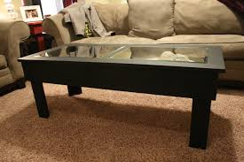 rectangle coffee table with glass top black