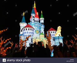 Fairy Castle Night Light Fairytale Castle Festival Of Light Stock Photo 311547350
