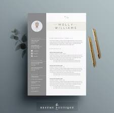 clean resume resume template 4 page cv template cover letter for ms word instant digital the minerva