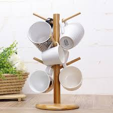 Tea Cup Display Stand Creative Tree Shape Wood Coffee Tea Cup Storage Holder Stand Home 5