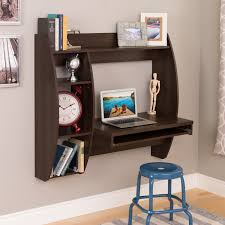 Everett Espresso Floating Desk with Storage and Keyboard Tray - Free  Shipping Today - Overstock.com - 17897674
