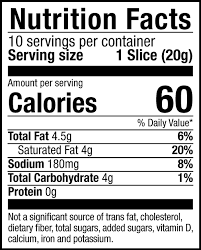 Cheese Nutrition Chart American Style Cheese Follow Your Heart
