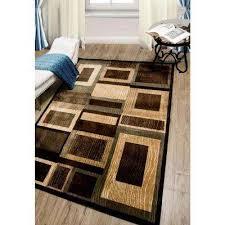 bazaar gal black brown 5 ft x 7 ft indoor area rug