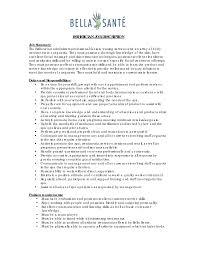 Esthetician Resume Sample Berathen Com