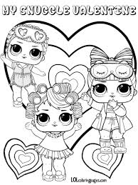 Pininked Girli On Lol Surprise Lol Dolls Valentine Coloring With