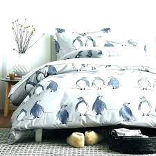 king size flannel duvet cover king size flannel sheets duvet cover set penguin parade the company