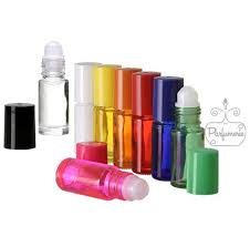 glass roll on bottles 5 ml clear swirl blue green orange yellow pink red opaque white