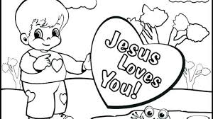 Jesus Loves Me Printable Coloring Pages Colouring Bible Children