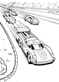 Small Picture Race Car Racing Hot Wheels Coloring Pages A Pinterest Race