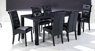 phenomenal terrific black gloss dining table and chairs vibrant room only interior design black high gloss