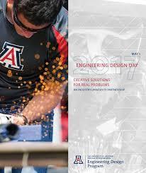 University Of Arizona Engineering Design Day Ua Engineering Design Day Book 2017 By University Of Arizona