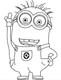 Small Picture Dave Happy Two Eyed Minion Coloring Page Despicable Me Coloring