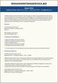 Emergency Room Registered Nurse Resume Examples Resume Resume