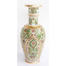 home decor handicrafts marble vase online shopping india