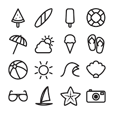 Summer Icons Summer Related Icon Elements Summer Icons Fluorescence