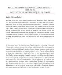 Leadership Essay Example Stunning Reflection Essay Format Format Of Reflective Essay Example Of