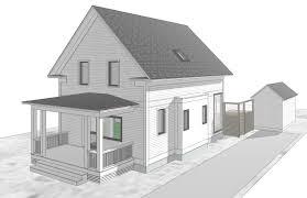 drawing house design modern house