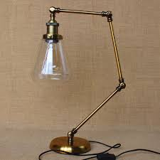 amazing bedside table reading lamp loft r h vintage clear glass shade copper desk for living room bedroom hotel edison bulb in from light uk with adjule