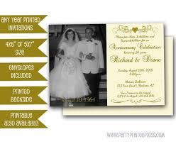 50th Anniversary Party Invitations 50th Golden Anniversary Party Invitation Vow Renewal 50th Wedding Anniversary Invite Gold Photo Invitation Heart Ivory Invitations