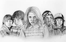 Stranger Things Coloring Pages Eleven Is In Danger Migliori Pagine
