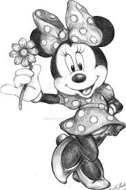 Minnie And Mickey Mouse Drawings Step