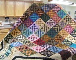 King size Quilt. This quilt pattern is called a square in a & Bed Quilt, King Size Bed Quilt. Multi Colored Bed Quilt, Patchwork Quilt, Adamdwight.com