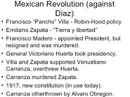 latin american revolution mexican revolution