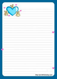 Letters Stationery A Cute Letter Writing Paper Decorated With Cute Hearts Is Great To