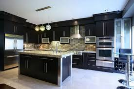 Small Dark Kitchen Design Professional Kitchen Design With Dark Cabinets And Small Round