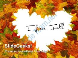 Fall Heart Leaf Tree Powerpoint Templates Free Fall Powerpoint