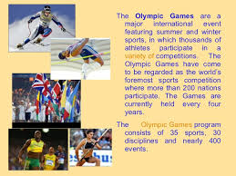 olympic games presentation  3 <ul><li>the olympic games