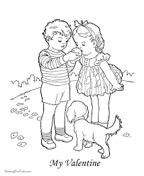 Small Picture Child Valentine Day Coloring Page 041