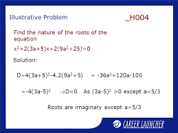 roots are imaginary except a 5 3